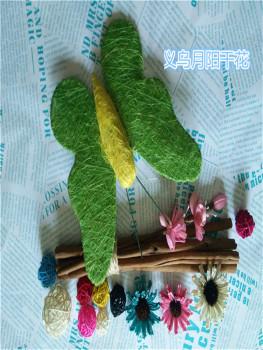 Sisal silk iron crafts accessories Christmas craft flower receptacle
