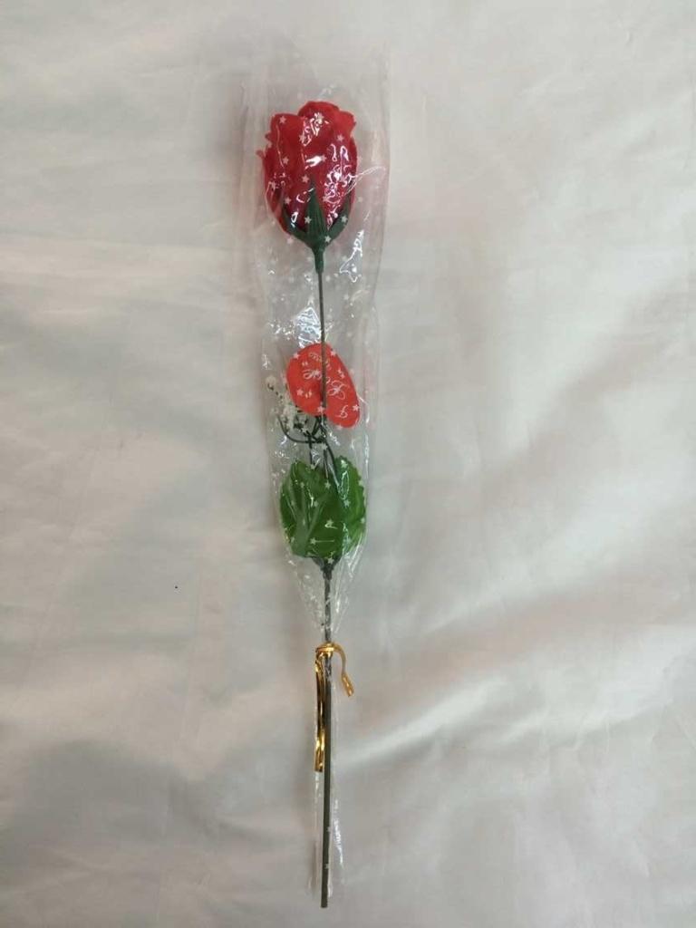 鲜红玫瑰单支包装玫瑰花