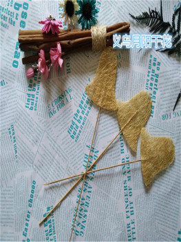 Flax linen crafts inserted rod film style Christmas craft accessories flower receptacle