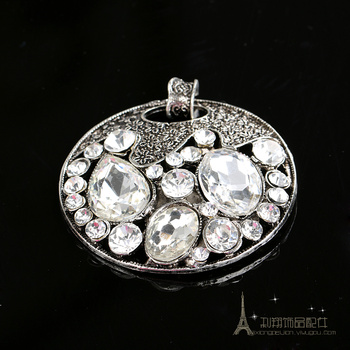 Diamond pendant/DIY zinc alloy bracelet key chain/rhinestones