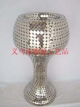Stainless steel floor decoration vases, hotel decoration flower vases