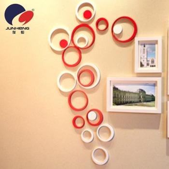 木製の丸い 3 D ウォール ステッカー壁リビング ルーム ベッドルーム子供の部屋の結婚式の部屋装飾 0341