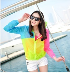 Transparent Cardigan colour matching air conditioning in Sun protection shirt jacket