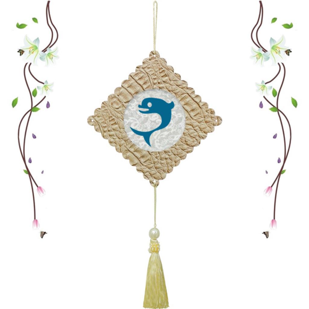 磁性纯手工剪纸窗花海洋动物挂饰幼儿园装饰教室墙