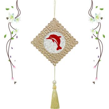 中华 传统 文化创意手工制作磁性剪纸海洋动物挂饰