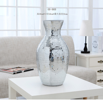 Modern fashion small mirror glass mosaic vase Home Furnishing exquisite craft ornaments