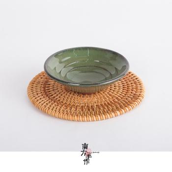 藤编竹编 杯垫紫砂壶垫手工茶杯垫 防烫防滑碗盘垫 日式古典