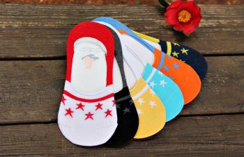 Spring/summer new Korea men boat socks Doug socks with star man silicone non-slip boat socks wholesale