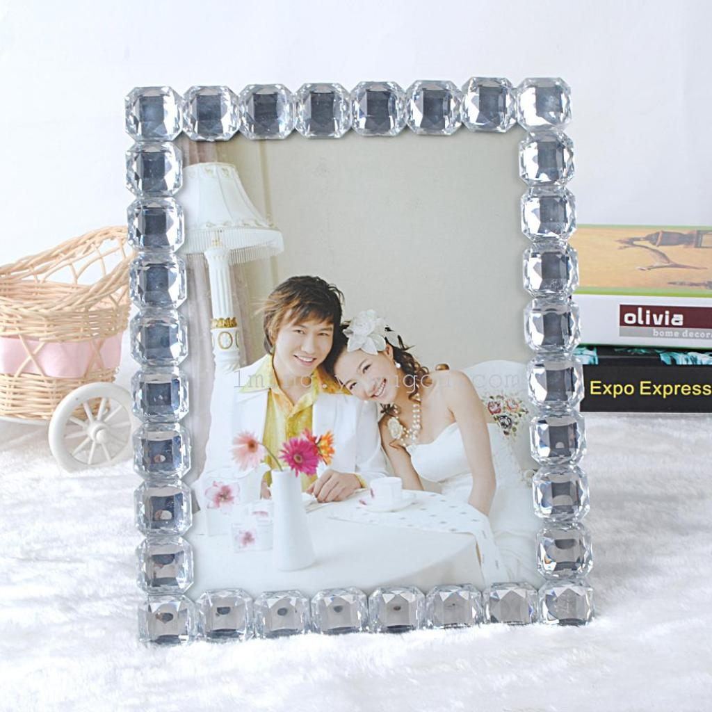 Supply european crystal glass picture frames wholesale 6 inch 7 european crystal glass picture frames wholesale 6 inch 7 inch 8 inch home creative studio photo jeuxipadfo Gallery