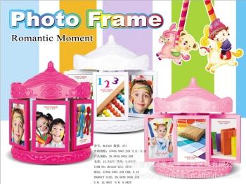 Trojans rotating photo frame new exotic gift shop plastic photo frames