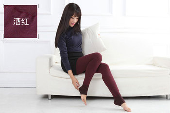Autumn and winter with velvet leggings and wear cotton pants one Feng thin female warm pants