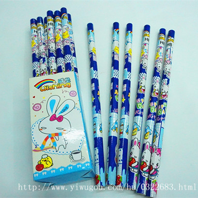 Cartoon film for children pencils HB student writing pencils wholesale