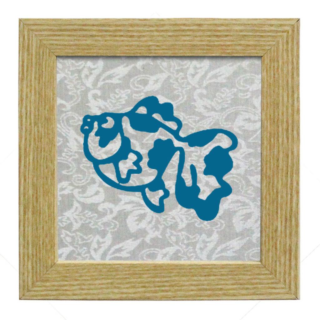 海洋动物4配木纹相框