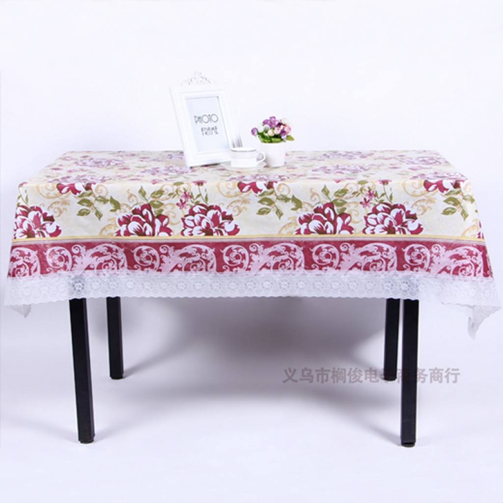 PVC Printing Tablecloth Cold Compression Lace Tablecloth Tablecloths Square  Tablecloth