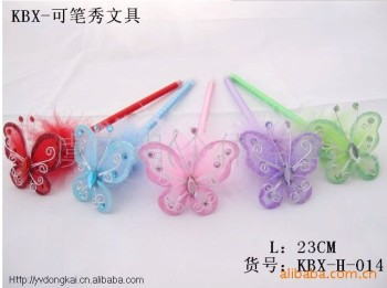 Supply Butterfly beaded Butterfly silk stockings toys gift ball pen technology promotional ballpoint pen
