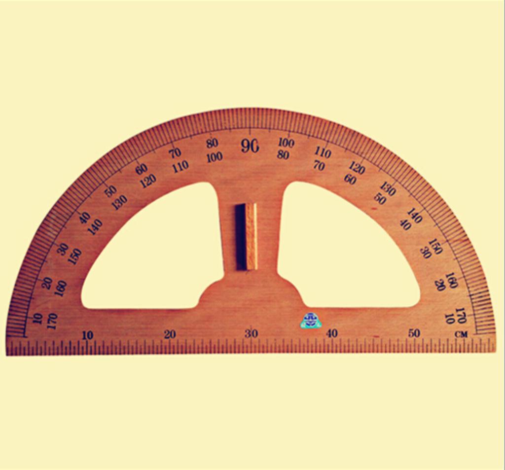 供应木制教学用品 套尺 三角板量角器