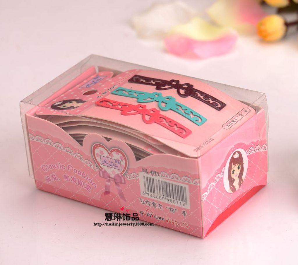 HL-0011彩色20卡粉盒复古一字夹卡通夹批发