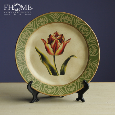Craft porcelain wall plates or wobble-plate hand-painted flowers home accessories factory direct