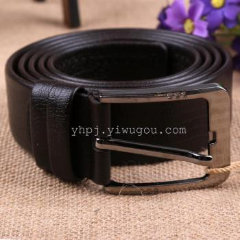 2015 new Microfiber double embossed casual pin buckle men's belt