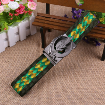 wholesale mixed polyester knitted fabric weave buckle belt