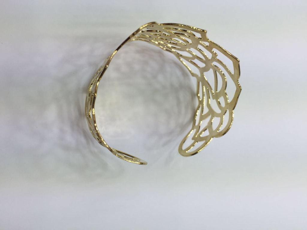流行镯 铁材质手镯 开口手镯 带花纹手镯