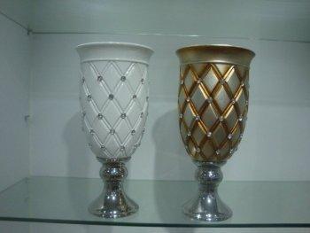 H20 ceramic plated vases flower pots