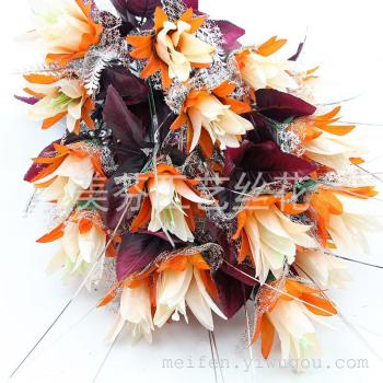 Artificial flowers 24 red leaf stevia home decor artificial flower corsage