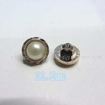 11.5mm rose gold pattern base care pearl pearl button clothing accessories