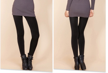 Winter outer wear and plush padded leggings slim ladies warm pants one Pant black pants women factory outlet