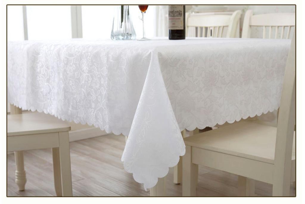 欧式涤纶布艺餐桌布正长方形茶几布冰箱圆形桌布台布纯色