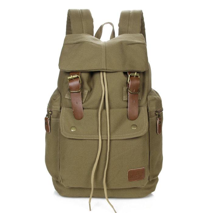 帆布双肩包新款女马桶包休闲背包运动旅行包图片
