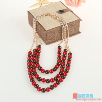 Creative jewelry necklace beads and acrylic sweater chain