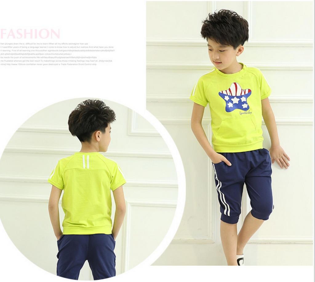 2015新款夏季幼儿园园服小学生班服校服套装儿童运动服