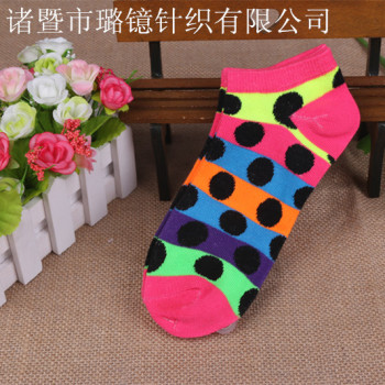 Female cartoon boat socks cotton ladies cotton short socks cotton socks cotton women's socks