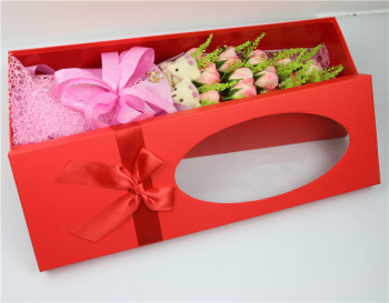 Valentine's day gifts girlfriends bear roses artificial flowers set Festival supplies packaging box