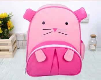粉色老鼠卡通可爱双肩幼儿园宝宝书包动物