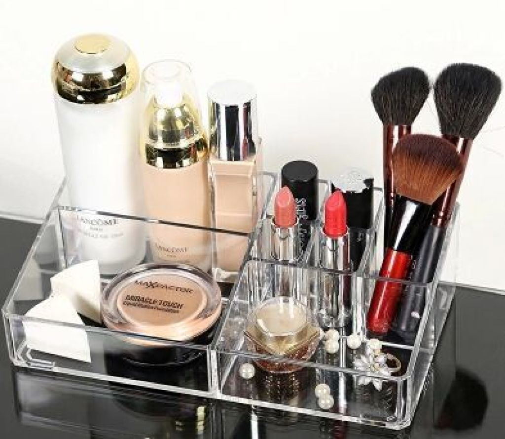 桌面收纳盒 护肤品梳妆台小盒子 化妆品指甲油收纳盒中小号