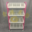 The new four layer file holder vertical floor rack data storage rack shelf iron net