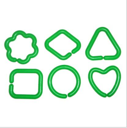 袋装儿童益智玩具积木桌几何形状连锁扣环桌面积木