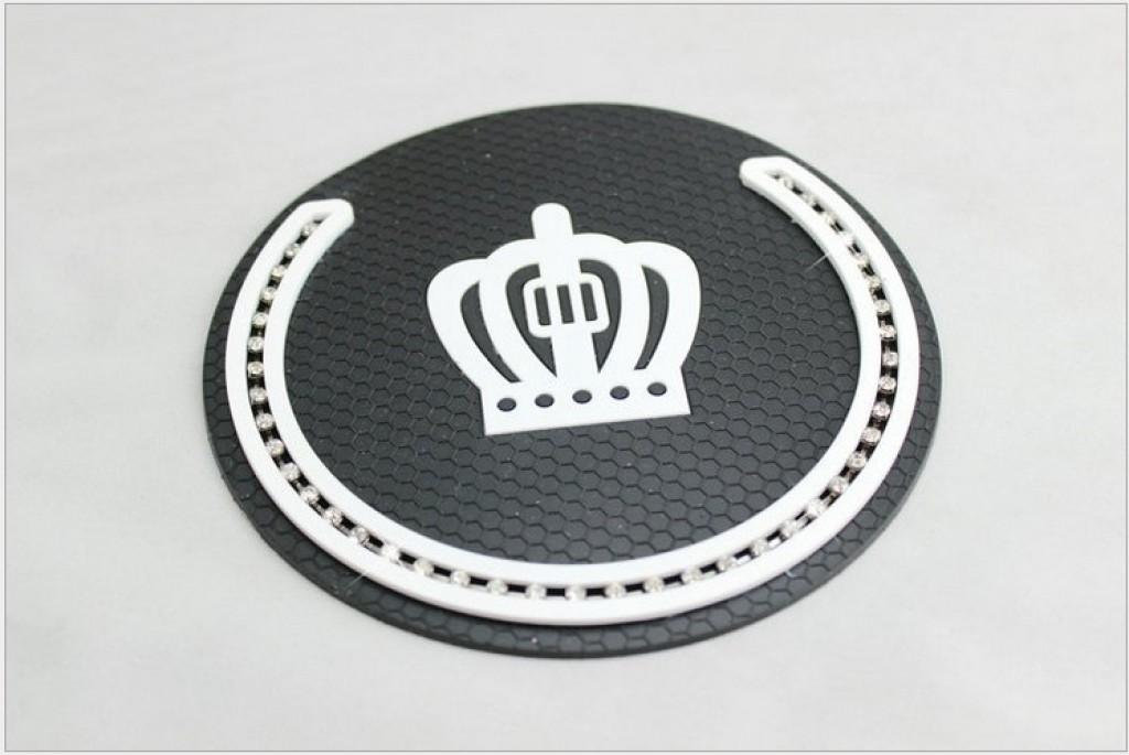 圆形带钻汽车防滑垫镶钻汽车防滑垫