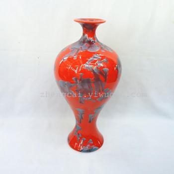 Crystalline glaze ceramic vase craft vases ceramic vases