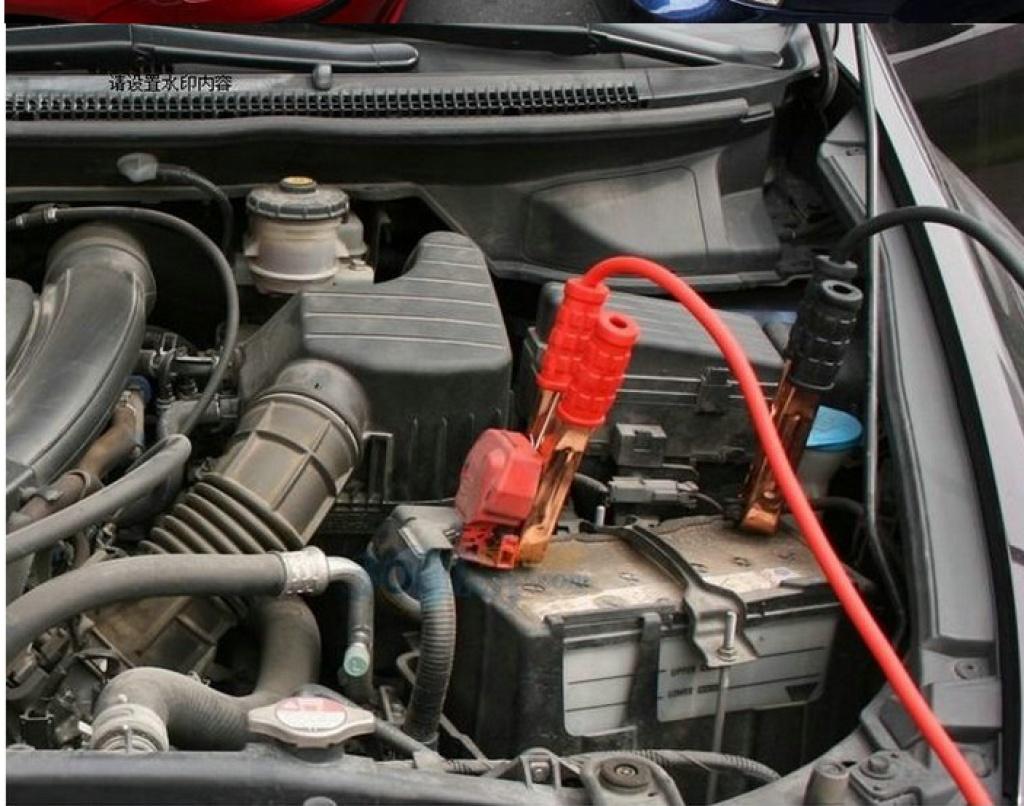 1000a汽车电瓶夹线长4米电瓶搭火线 电瓶线