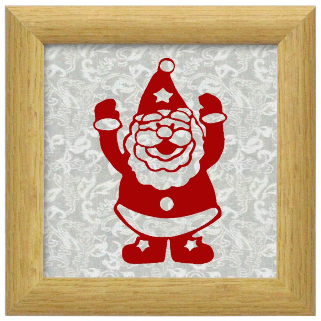 创意手工制作磁性剪纸圣诞老人节庆装饰用品摆件