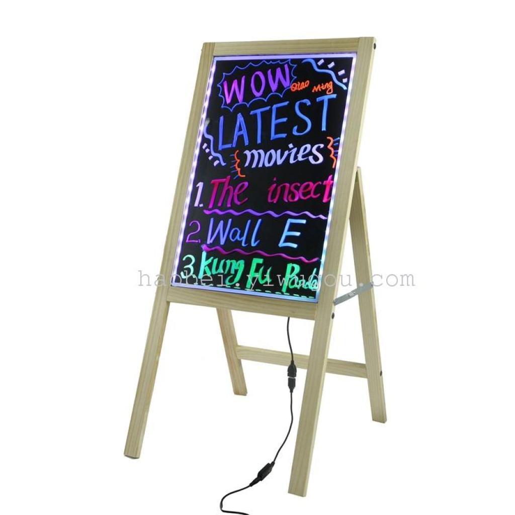 led手写荧光板/单面木框画板/发光黑板