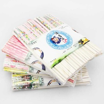 Ten Yuan Dian j boutique hotel supply special bamboo chopsticks chopsticks bag the old hotel set flower chopsticks
