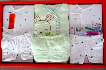 Baby gift baby cotton set costume box new for fall/winter baby clothes