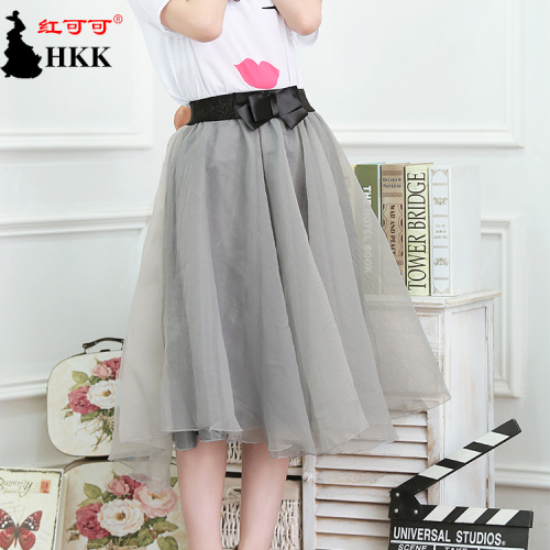 Organza bow skirt of summer Korean version of the Joker and put an umbrella skirt