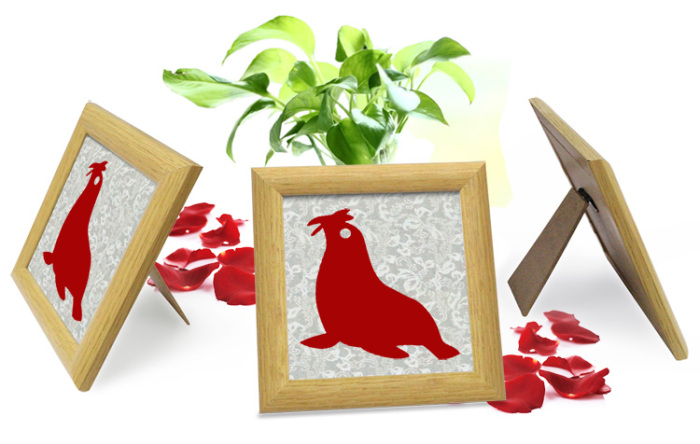创意情侣摆件磁性剪纸海洋动物相框中国特色工艺礼品