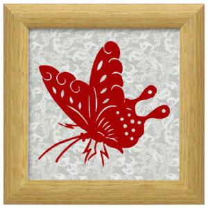 批发手工磁性剪纸蝴蝶