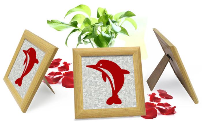 装饰品磁性剪纸手工制作海洋动物小摆件